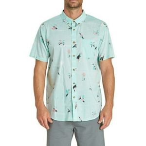 Billabong Button Down Sundays Rio Bird Print Shirt